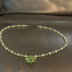Vintage Peridot colored necklace